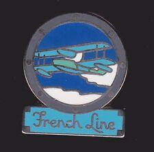 Beau pin's CGM French Line Hydravion Avion Plane Ligne Transatlantique Le France