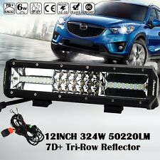 PHILIPS 7D+ REFLECTOR 12INCH 324W TRI-ROW LED LIGHT BAR SPOT FLOOD COMBO OFFROAD