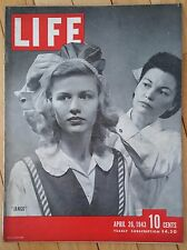 LIFE MAGAZINE APRIL 26 1943 JANGO CORPORAL THOMAS RADIO CITY MUSIC HALL NEWPORT