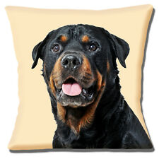 "NEW YOUNG ROTTWEILER DOG BLACK TAN CLOSE UP PHOTO PRINT 16"" Pillow Cushion Cover"