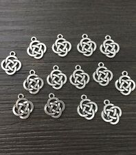 Jewelry Findings,Charms,Pendants,Tibetan Silver 10pcs Celtic pagan knot 3D