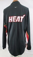 Nike Miami Heat NBA Shooting Shirt Jersey button Up Warm-Up Mens 2XL VINTAGE