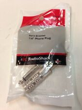 "Mono-Shielded 1/4"" Phone Plug #274-1544 By RadioShack"