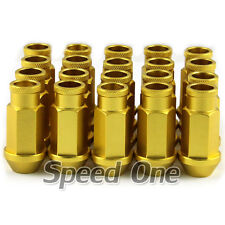 M12 1.5mm Aluminum Racing Tuner Wheel Lug Nuts Yellow for Ford KIA Honda Toyota