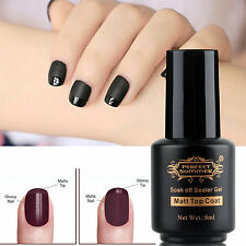 New Manicure Nail Art Soak Off Finisher Matte Sealer Top Coat UV Gel Polish 8 ml
