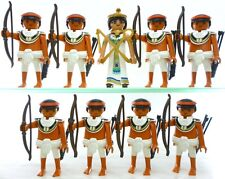 Playmobil 9 EGYPTIAN FIGURES Archers Queen Cleopatra Guards Soldiers Accessories