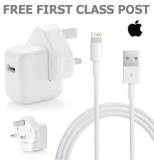 Genuine Apple USB Mains Charger Charging Power Adapter Cable For iPad Air 1 & 2