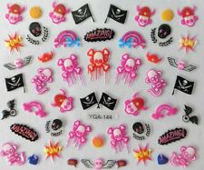 Accessoire ongles : nail art - Stickers autocollants - motifs pirates