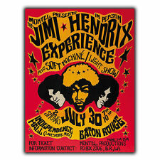 THE JIMI HENDRIX 1970 EXPERIENCE METAL SIGN PLAQUE Retro Vintage Advert poster