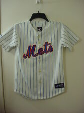 Genuine Merchandise Majestic MLB New York Mets Jersey USA Made Youth Size M  VGC