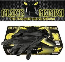 Black Mamba Nitrile Disposable Gloves Super Strong Mechanics Detailing LARGE New