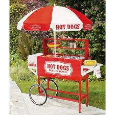 Commercial Hot Dog Cart W Umbrella Carnival Concessions Grill Stand Backyard New