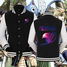Anime Fairy Tail Unisex Baseball Cool Jacket Sweater Cosplay Coat Tops popular