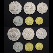 Kyrgyzstan Set 6 Coins, 10 tyiyn - 10 som, 2008-2009, UNC