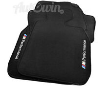 BMW Z4 Series E85 Black Floor Mats ///M Performance Logo Clips RHD UK