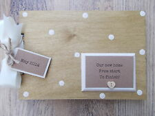 PERSONALISED NEW HOME RENEVATION WOODEN SCRAPBOOK/PHOTO BOOK /MEMORIES