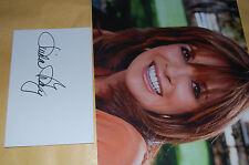 LINDA GRAY (SUE ELLEN DALLAS) 10X8 PHOTO WITH  SIGNED WHITE CARD 1