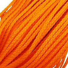 5 M de cordón plano trenzado símil cuero para creación de pulsera infinity