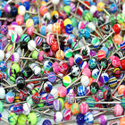 V084 Acrylic Tongue Rings Bars Barbells 150 of YOUR CHOICE Stars Flowers Hearts