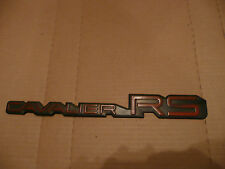 Chevrolet Chevy Cavalier RS Red Plastic Emblem Used FREE SHIPPING