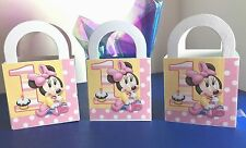 10 DISNEY BABY MINNIE MOUSE 1st BIRTHDAY Party Favor LOOT Treat BOXES/ BAGS E