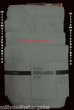 New Mens Marks & Spencer White Briefs x 4 Size XX Large