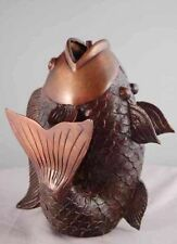 Traditional Fish Spitter Fountain w/ Pump Real Bronze Lost Wax Casting Process