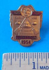CANADA LIFE COMPETITION 1954 SINGLE RINK VINTAGE CURLING PIN