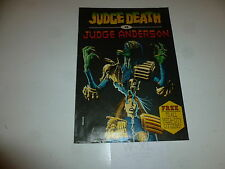 2000 AD Comic - Judge Death VS Judge Anderson - Date 1987  - Comic Supplement