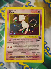 Carta POKEMON 9 MEW Holo Foil PROMO Wizard Black Star in ITALIANO No Mewtwo Gold