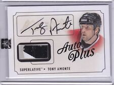 2013-14 ITG SUPERLATIVE HOCKEY TONY AMONTE AUTHENTIC AUTOGRAPH STICK CARD /20