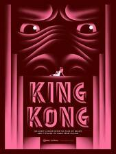KING KONG ART DECO MOVIE POSTER STYLE B SMALL PINK LIMITED EDITION SCREEN PRINT