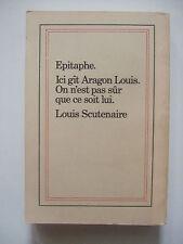 ARAGON Louis - Traité du Style - Edition Pirate Belge par SCUTENAIRE Epitaphe