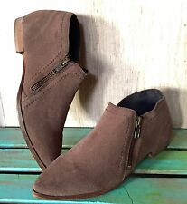 NIB Free People taupe brown suede In Sight Zipper Pointed Toe Boots 36 / 5 - 5.5