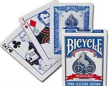 New Deck Bicycle Election Back Playing Cards Democrat Donkey on Bike Rare 2008