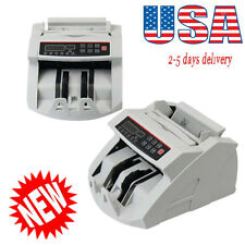 USA Money Bill Currency Counter Counting Counterfeit Detector UV MG Cash Device