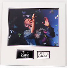 Chris Martin Genuine Hand Signed Photo Mount Display COLDPLAY COA (B)