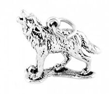 """STERLING SILVER """"HOWLING WOLF"""" CHARM WITH SPLIT RING"""