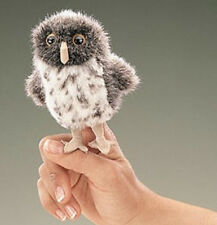 SPOTTED OWL Finger Puppet # 2638 ~FREE SHIPPING in USA ~  Folkmanis Puppets