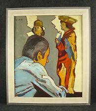 Im Künstler - Atelier / Ölgemälde signiert H.W.S. im Rahmen