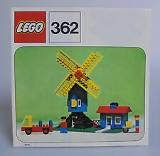 LEGO® Bauanleitung 362 Mühle ungelocht von 1975 BA Anleitung neuwertig