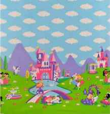 Michael Miller Princess Charming fabric. castle-unicorn-girls -by the half metre