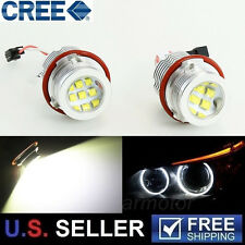 2x 60W High Power CREE BMW E39 E60 X3 X5 LED Angel Eyes Halo Ring Light Bulbs