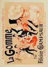 A4 photo CHERET Jules les affiches illustrees 1896 la gomme imprimé Poster