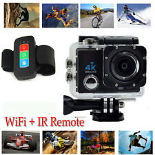 "Q3H-1 Ultra HD 4K Waterproof Sports Action DV Cam WiFi Camera 2"" LCD + IR Remote"