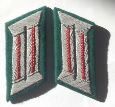 WW2 GERMAN ARMY OFFICER COLLAR TABS ARTILLERY RED PIPED pair