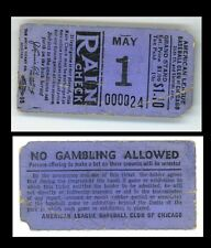 vintage Chicago White Sox ticket  between 1931 - 39