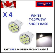 4X White Xenon LED T10 8SMD/5050/194Bulbs Light 68 W5W license Plate Short Base