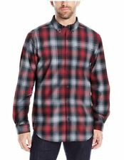 New $50 Columbia Men's Rapid Rivers II LS Button Up Shirt Red/Gray/Black Small