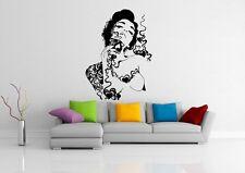 Wall Decor Vinyl Sticker Room Decal Art Tattoo Hot Flower Sexy Woman Girl #641